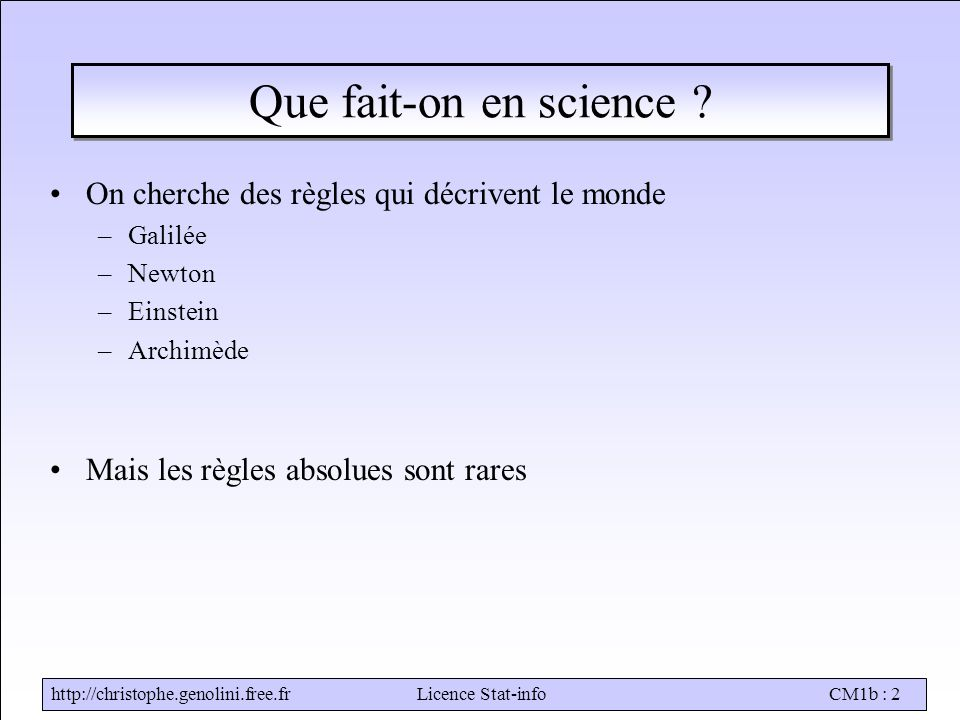 Stat-infoCM1b : 2 Que fait-on en science .