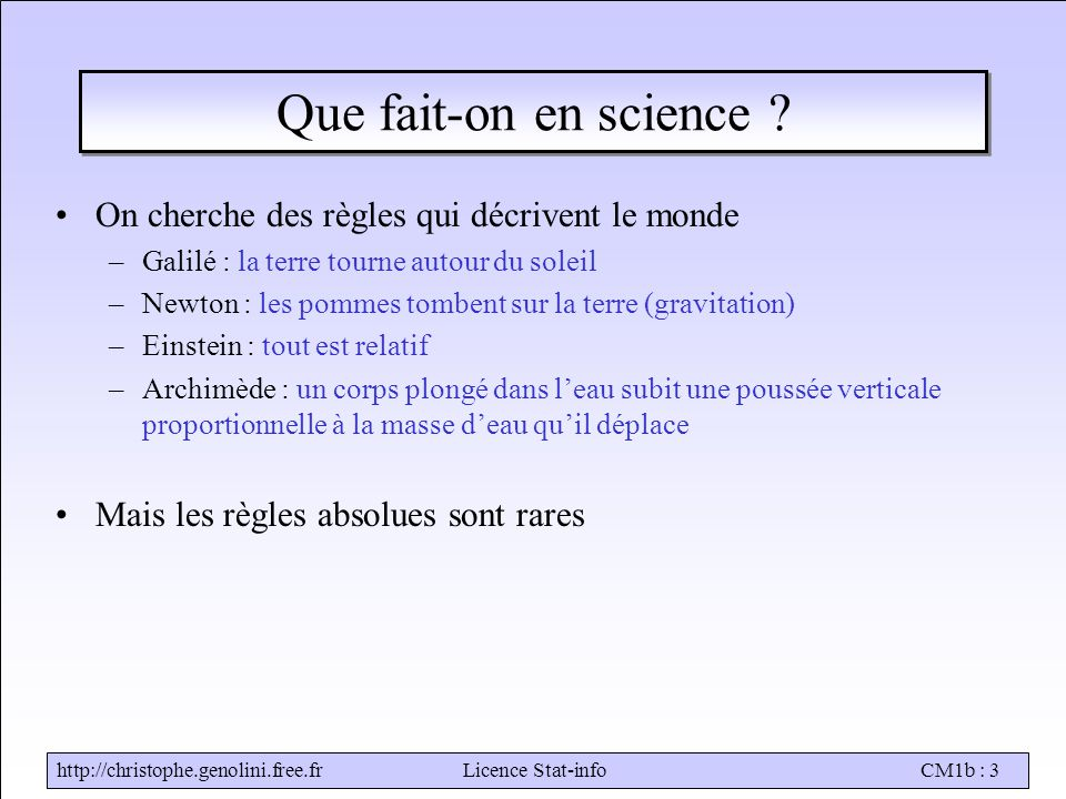 Stat-infoCM1b : 3 Que fait-on en science .