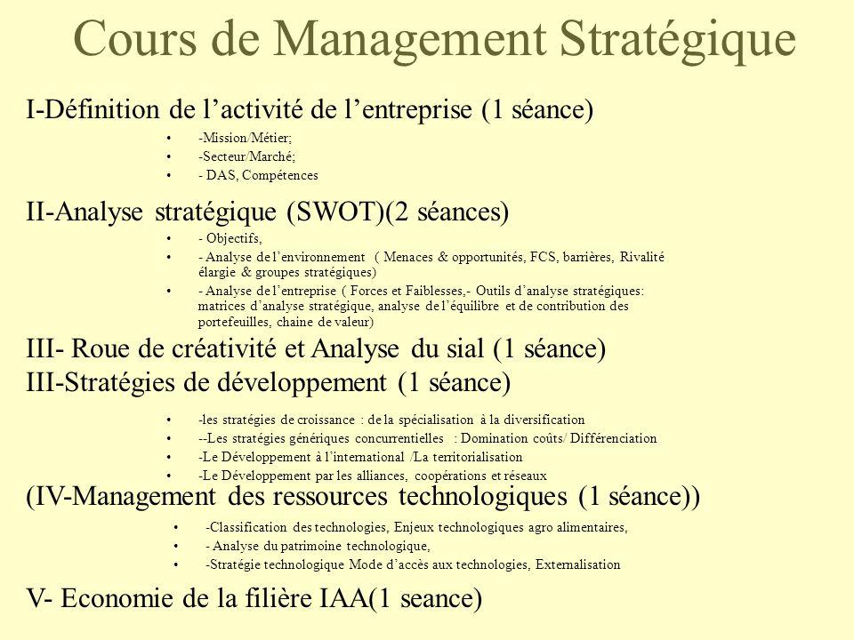Management Strategique Des Entrepri Groupe Sister