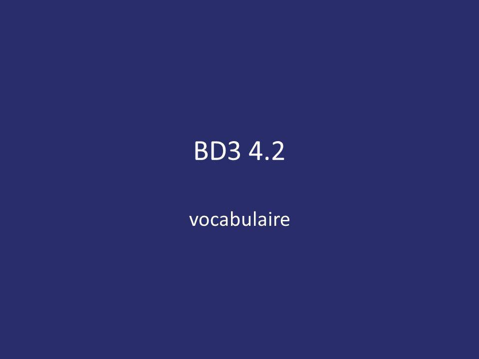 BD3 4.2 vocabulaire