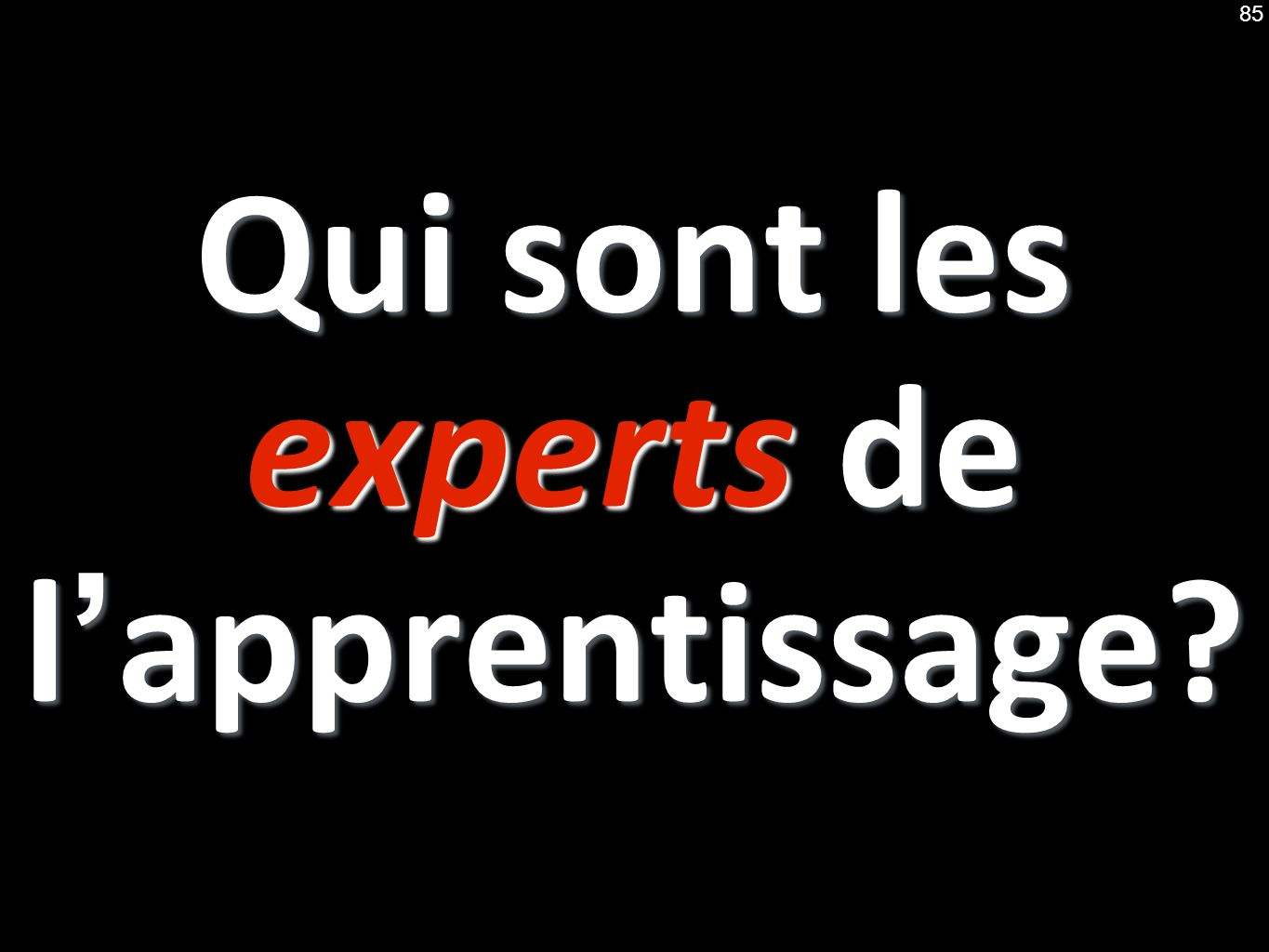Qui sont les experts de lapprentissage 85