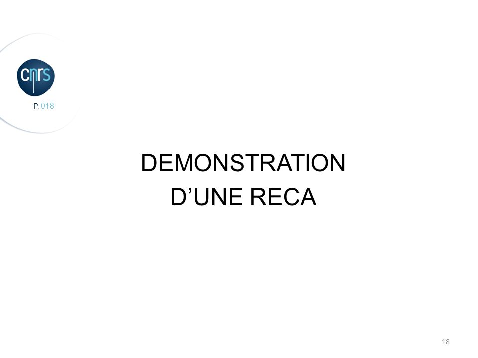 P DEMONSTRATION DUNE RECA