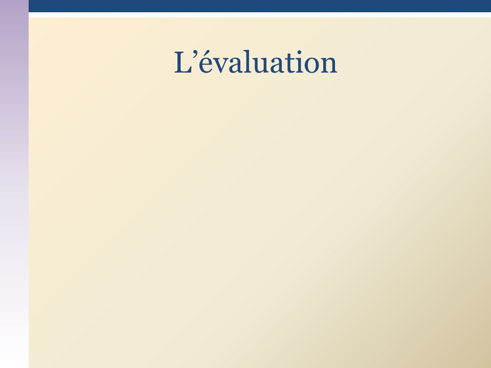 Lévaluation