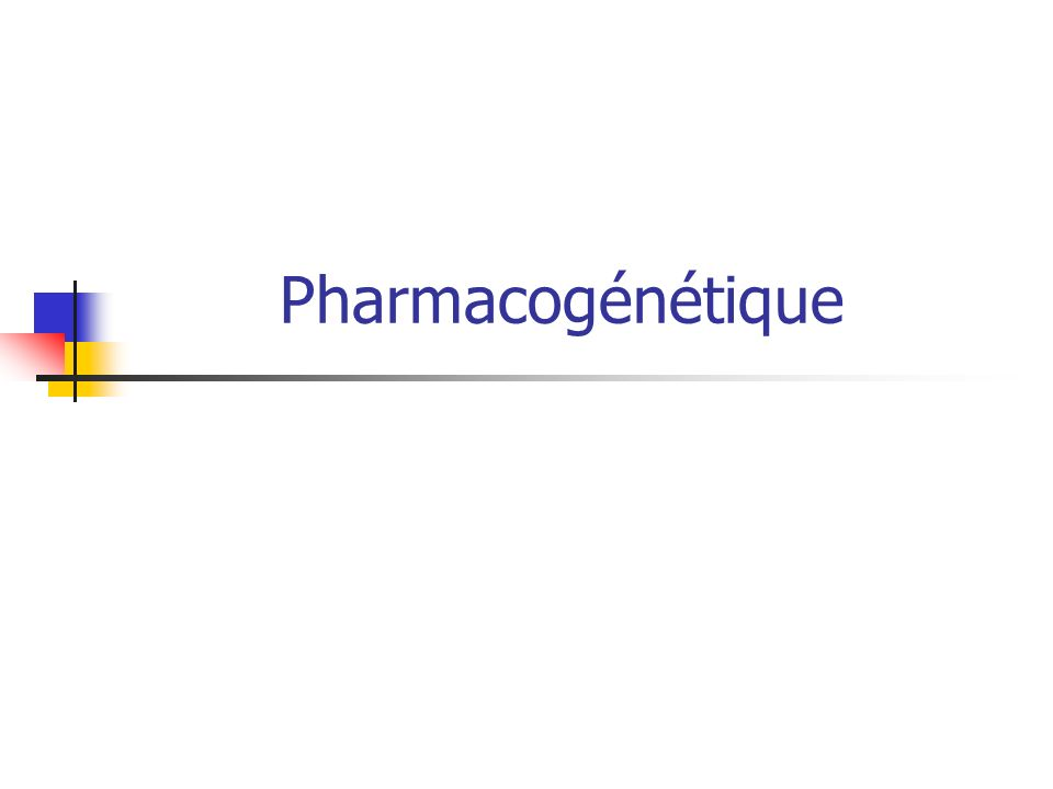 Pharmacogénétique