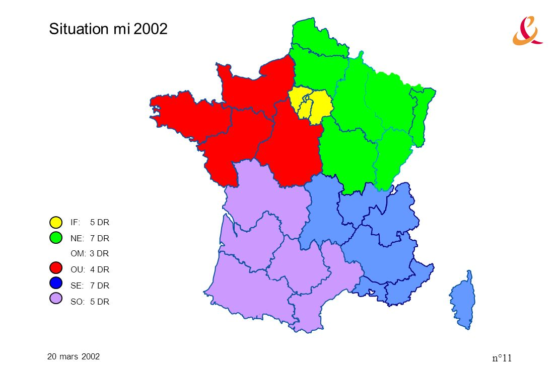 20 mars 2002 n°11 IF:5 DR NE:7 DR OM: 3 DR OU:4 DR SE:7 DR SO:5 DR Situation mi 2002