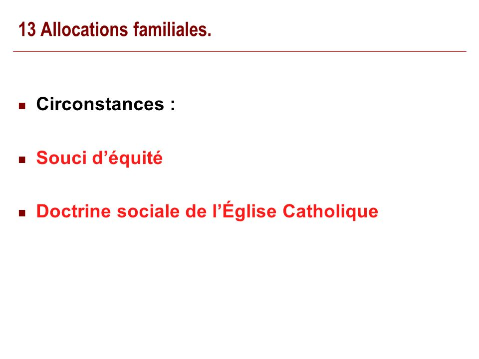 22/02/ Allocations familiales.
