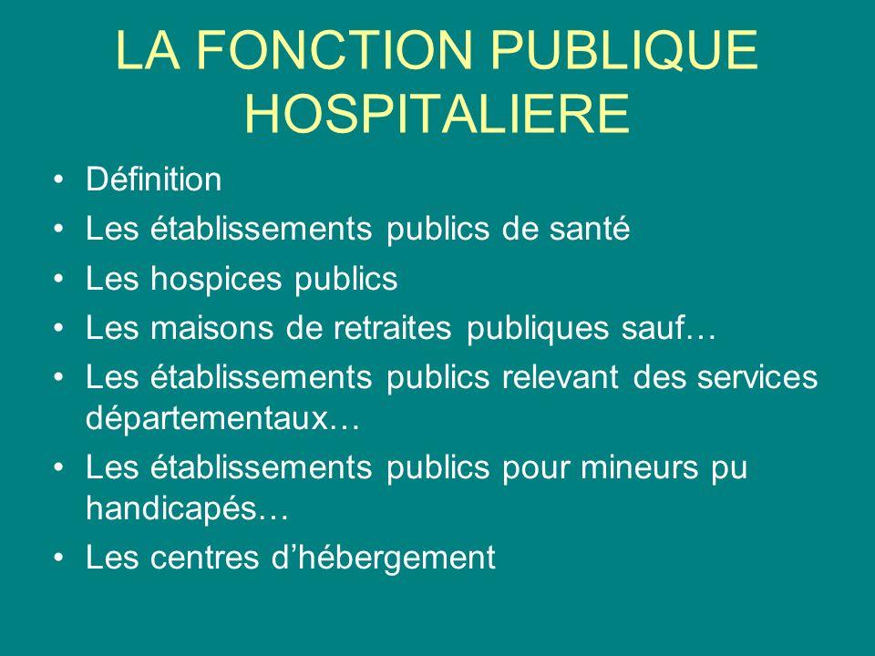 8670d705b45 3 LA FONCTION PUBLIQUE HOSPITALIERE Définition Les établissements ...
