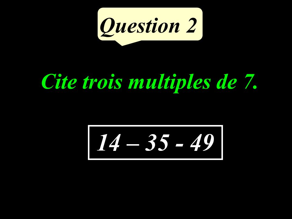 Calculer : (-14) + (+6) Question 1 - 8