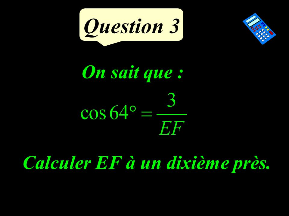 Question 2 Ecrire sous la forme a n :