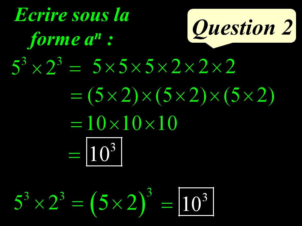 Question 1 Compléter : (6x + …) (6x - …) = …… x² 5 5