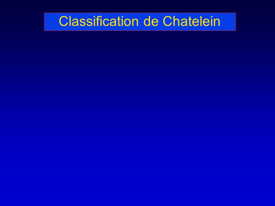 Classification de Chatelein