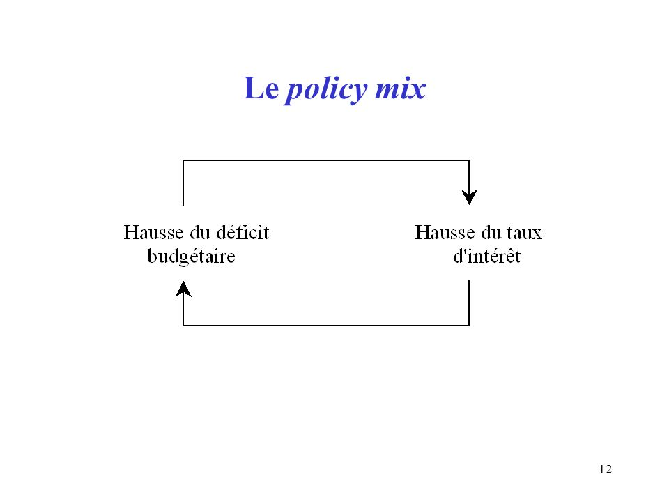 12 Le policy mix