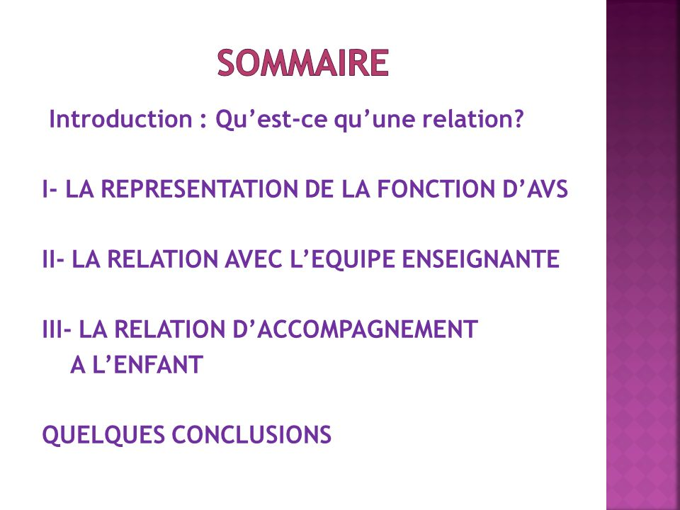 Introduction : Quest-ce quune relation.