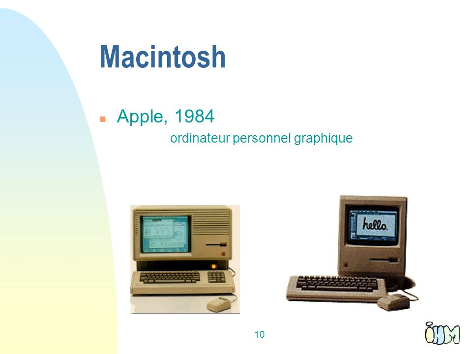 10 Macintosh n Apple, 1984 ordinateur personnel graphique