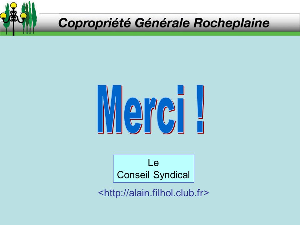 Le Conseil Syndical