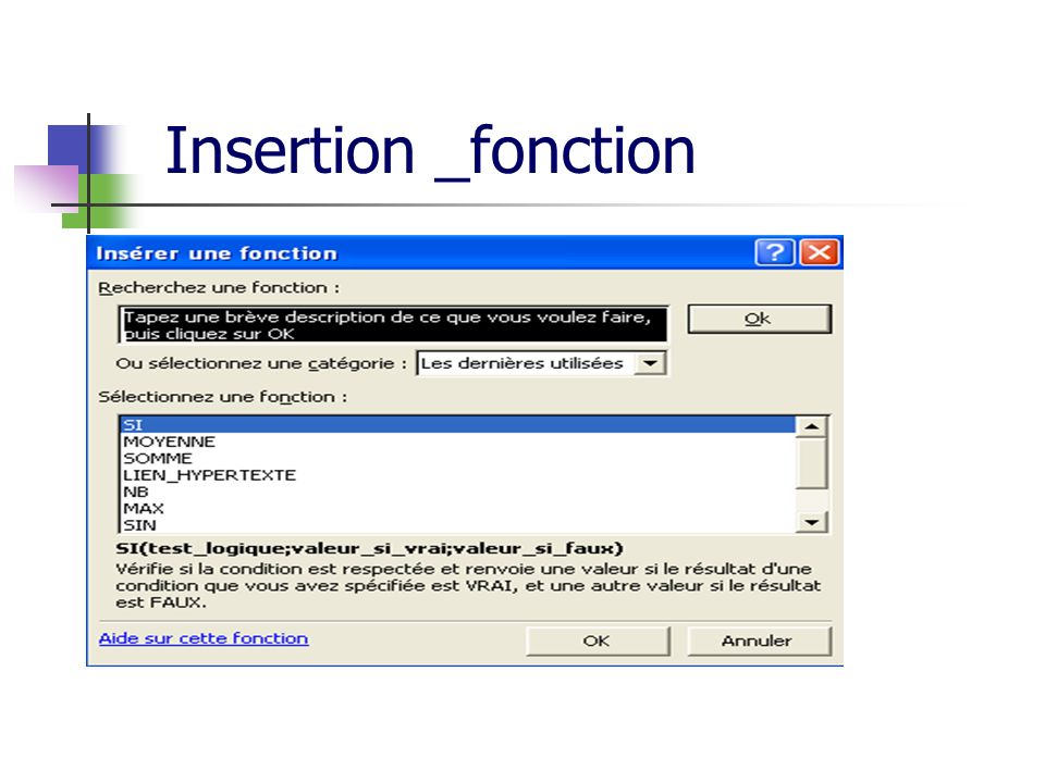 Insertion _fonction