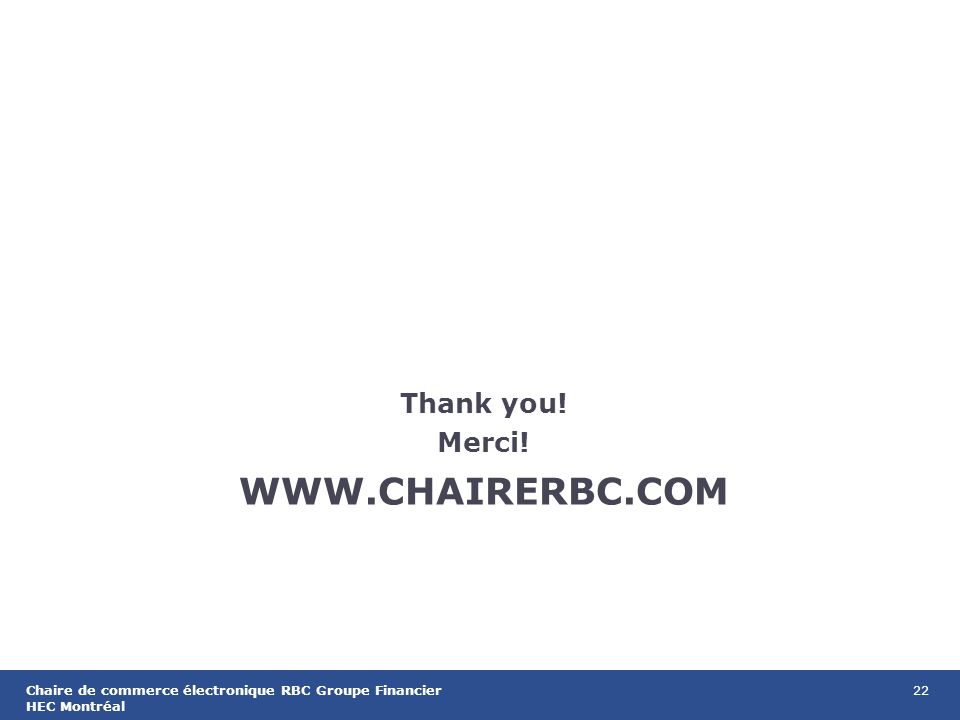 22Chaire de commerce électronique RBC Groupe Financier HEC Montréal   Thank you.