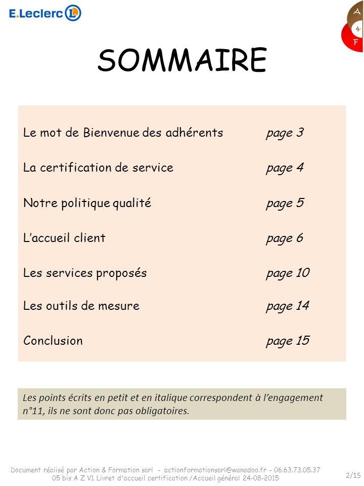 Livret D Accueil Certification Selon Version 6 Du Referentiel De