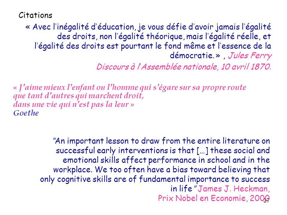 37 Citations « Avec l'inégalité d'éducation, je vous défie d ...