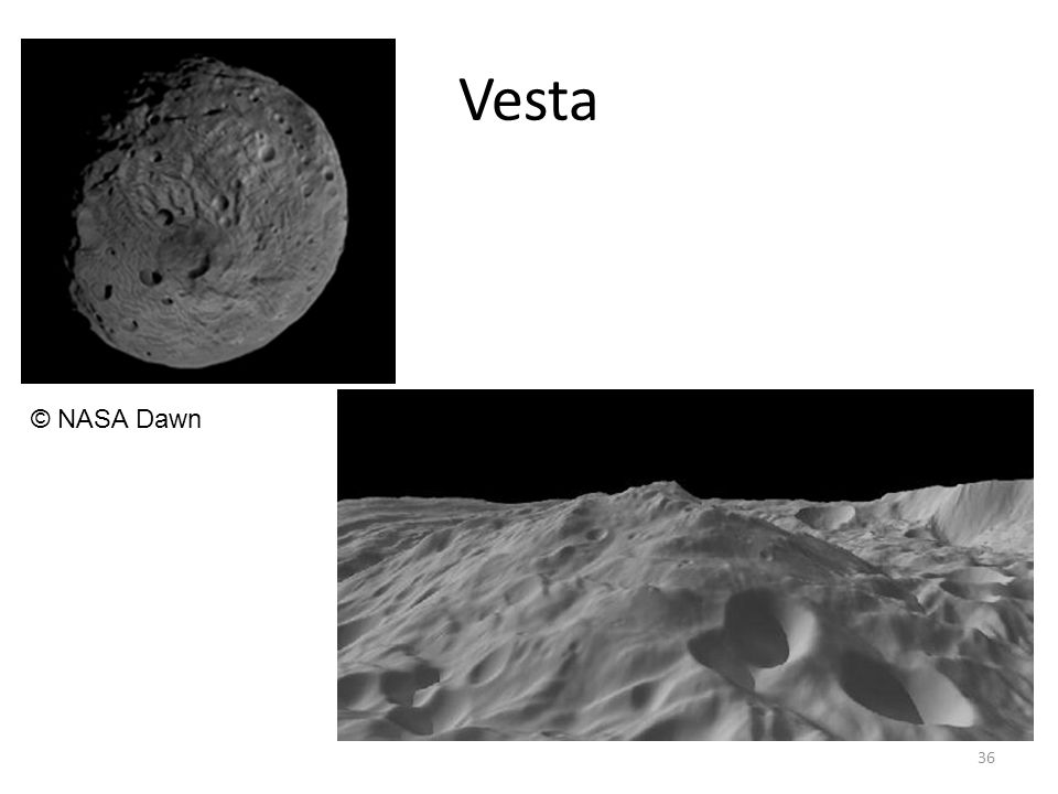 Vesta 36 © NASA Dawn