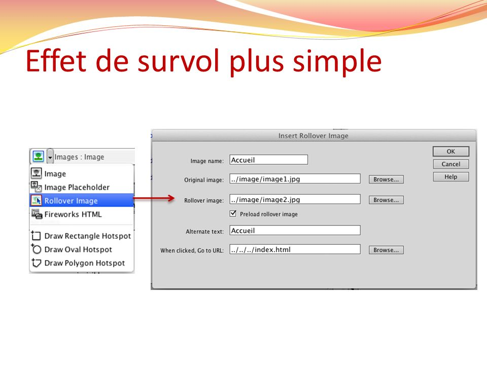 Effet de survol plus simple