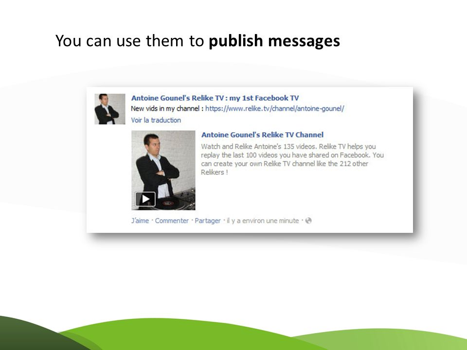 You can use them to publish messages