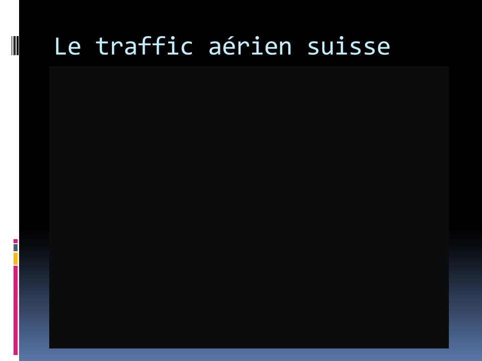 Le traffic aérien suisse