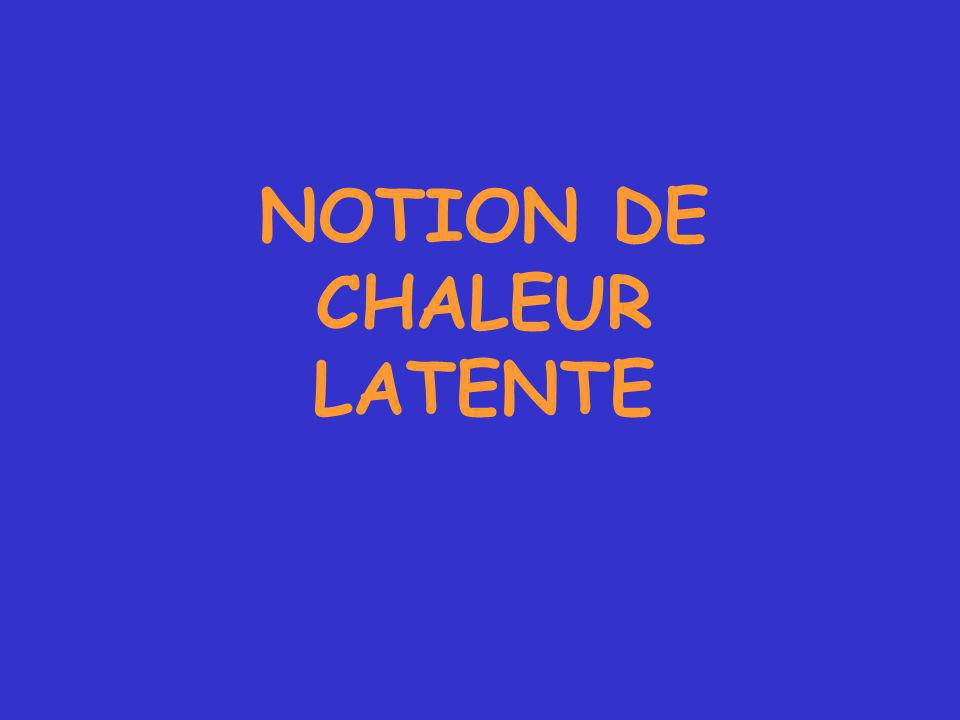 NOTION DE CHALEUR LATENTE