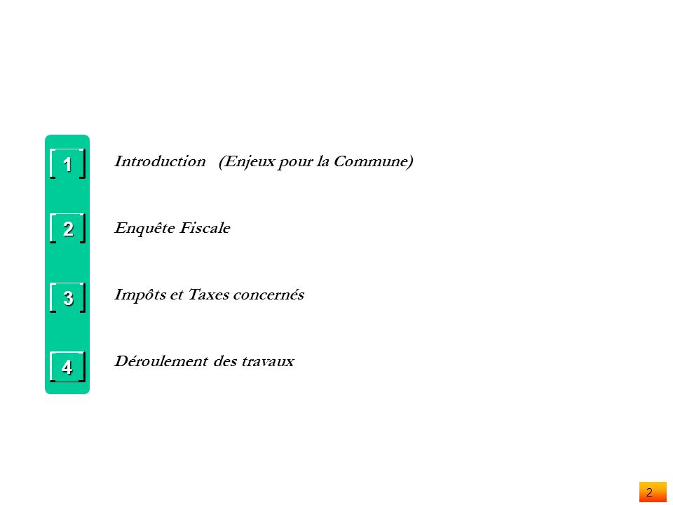1 Finances Communales Finances Communales Recensement fiscal