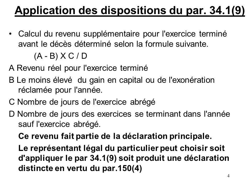 4 Application des dispositions du par.