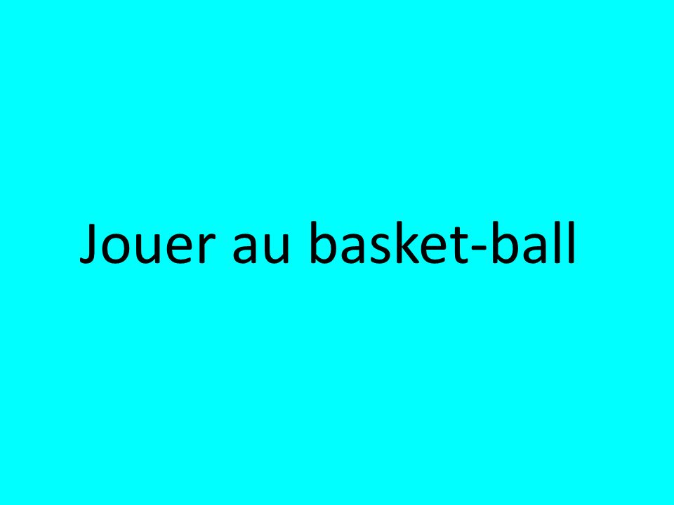 Jouer au basket-ball