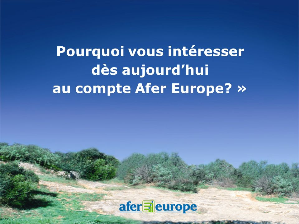 Le compte Afer Europe