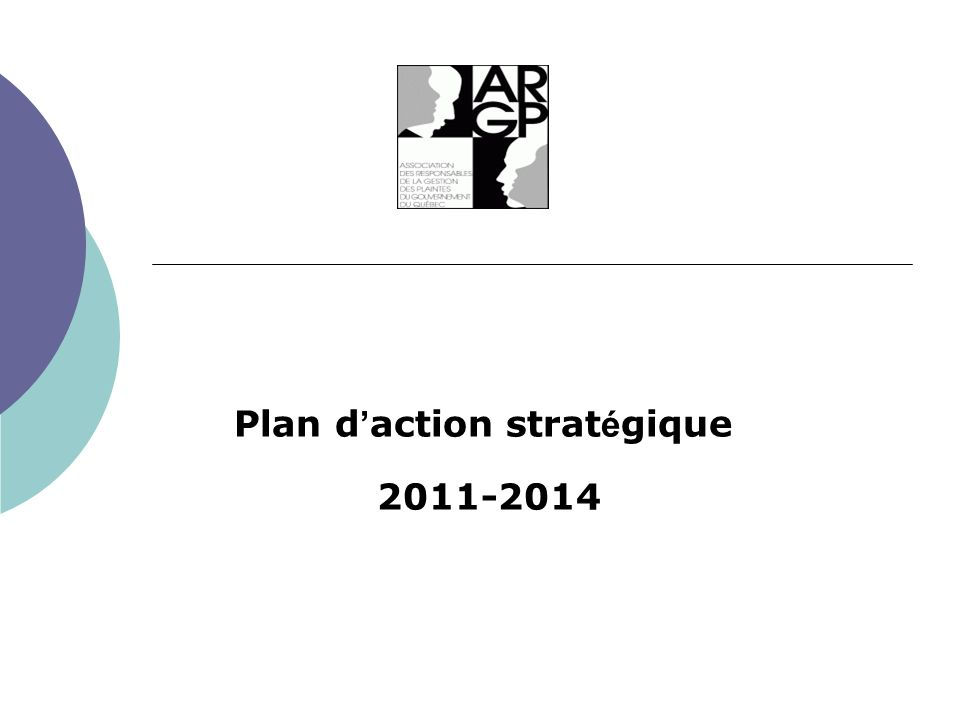 Plan d action strat é gique