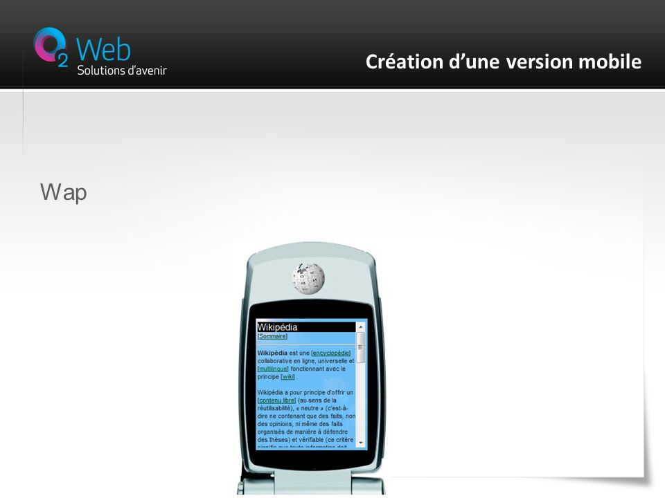 Wap Création dune version mobile