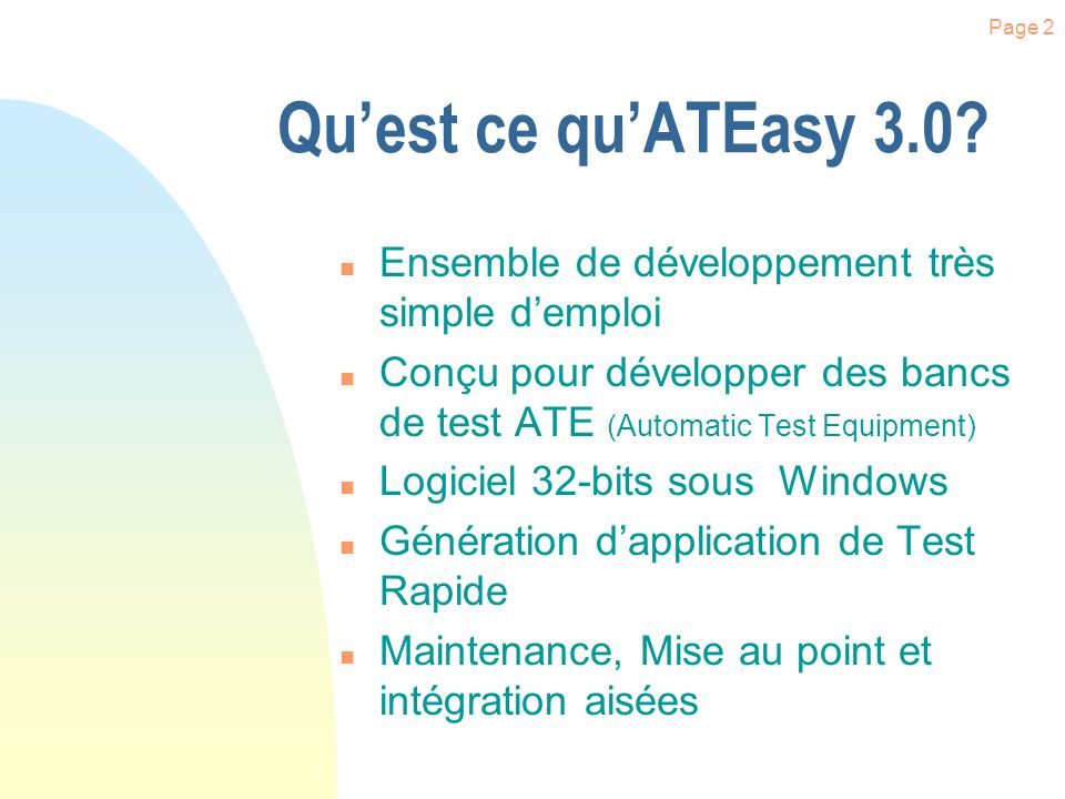 Page 1 Introduction à ATEasy 3.0