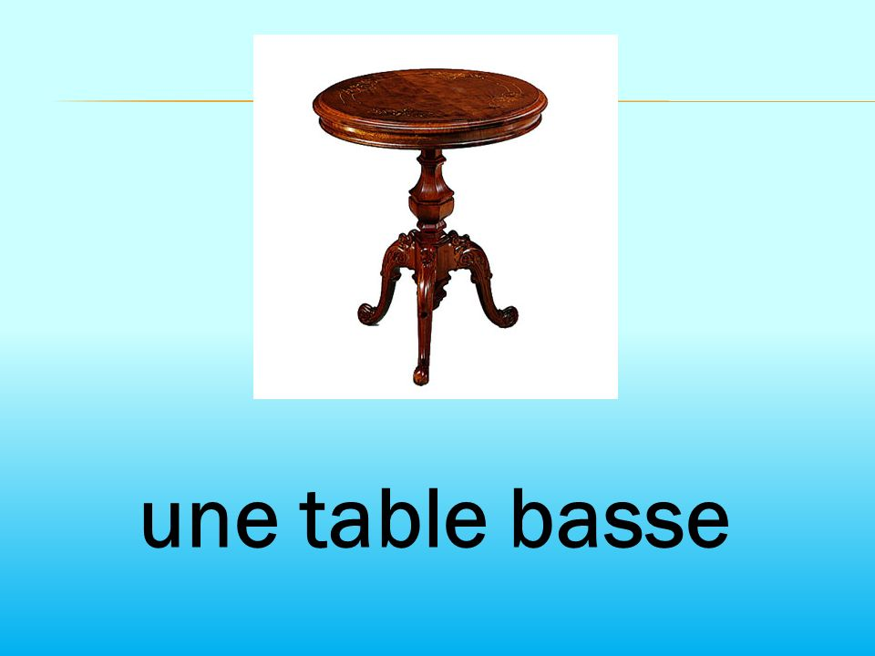 une table basse