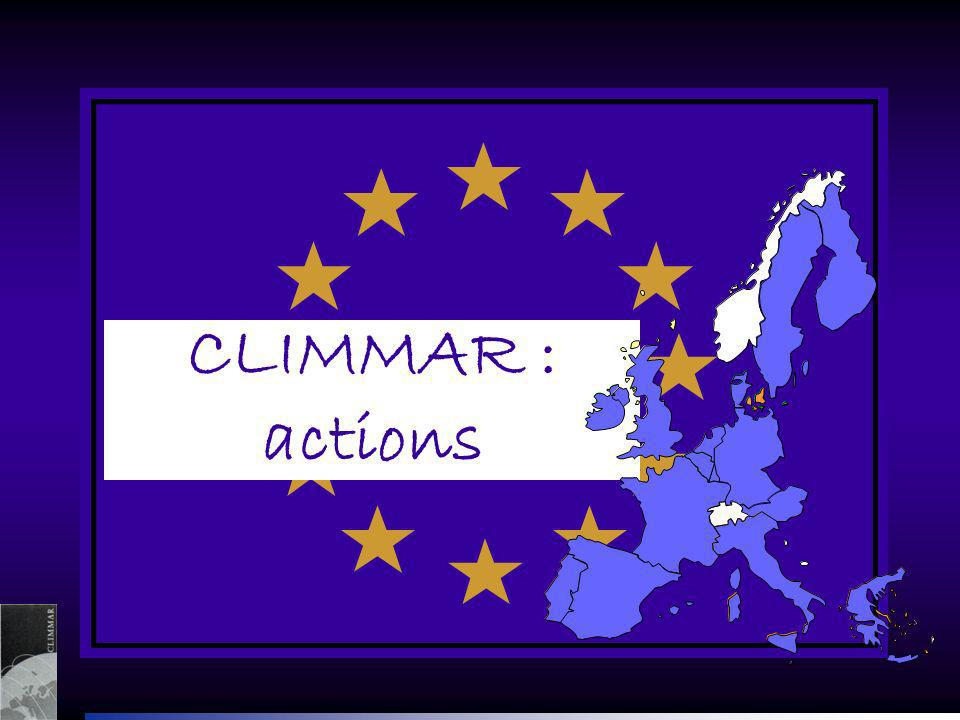 CLIMMAR : actions
