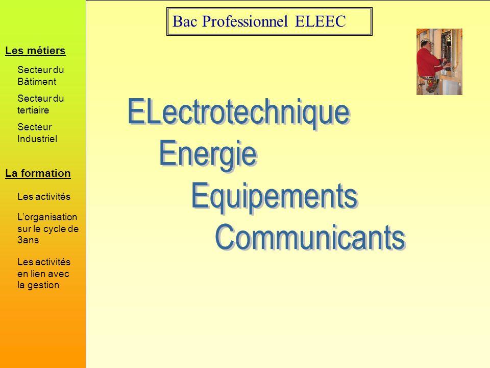 Bac Professionnel Eleec La Formation Les Metiers Secteur Du