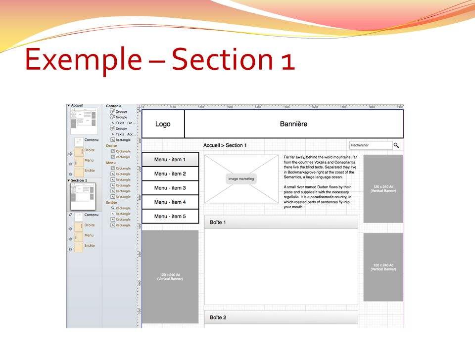 Exemple – Section 1