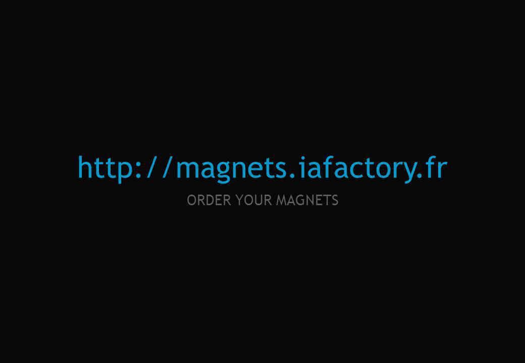 magnets fiche projet / project sheet IAFACTORY THE MAGNETIC FACTORY magnets.