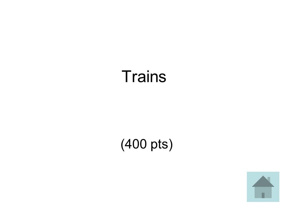 Trains (400 pts)