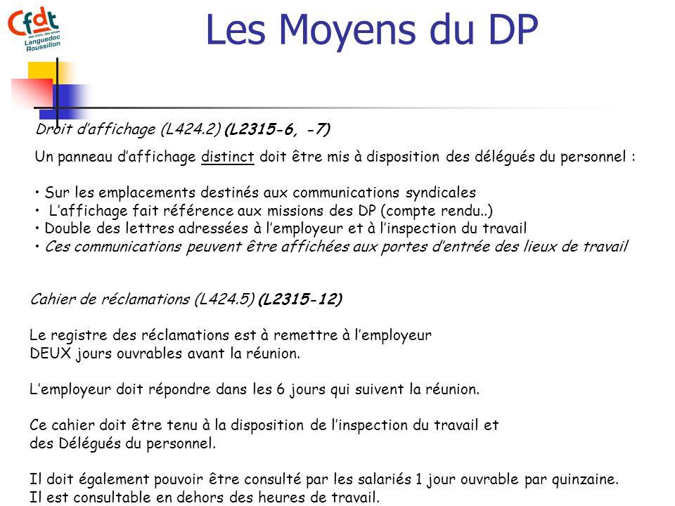 587267f6752 2 Les Moyens du DP Droit daffichage (L424.2) (L2315-6