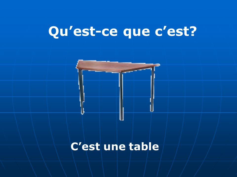 Quest-ce que cest Cest une table