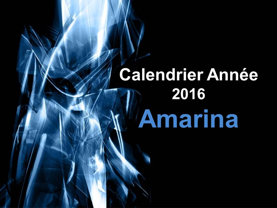 Free Powerpoint Templates Calendrier Année 2016 Amarina