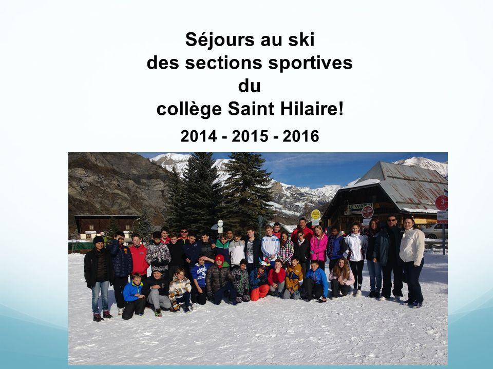 Séjours au ski des sections sportives du collège Saint Hilaire! ppt ...
