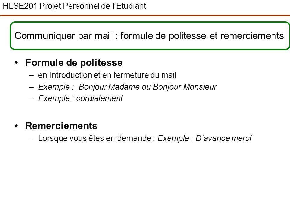 Hlse201 Projet Personnel De L Etudiant Licence 1ere Annee Semestre 2