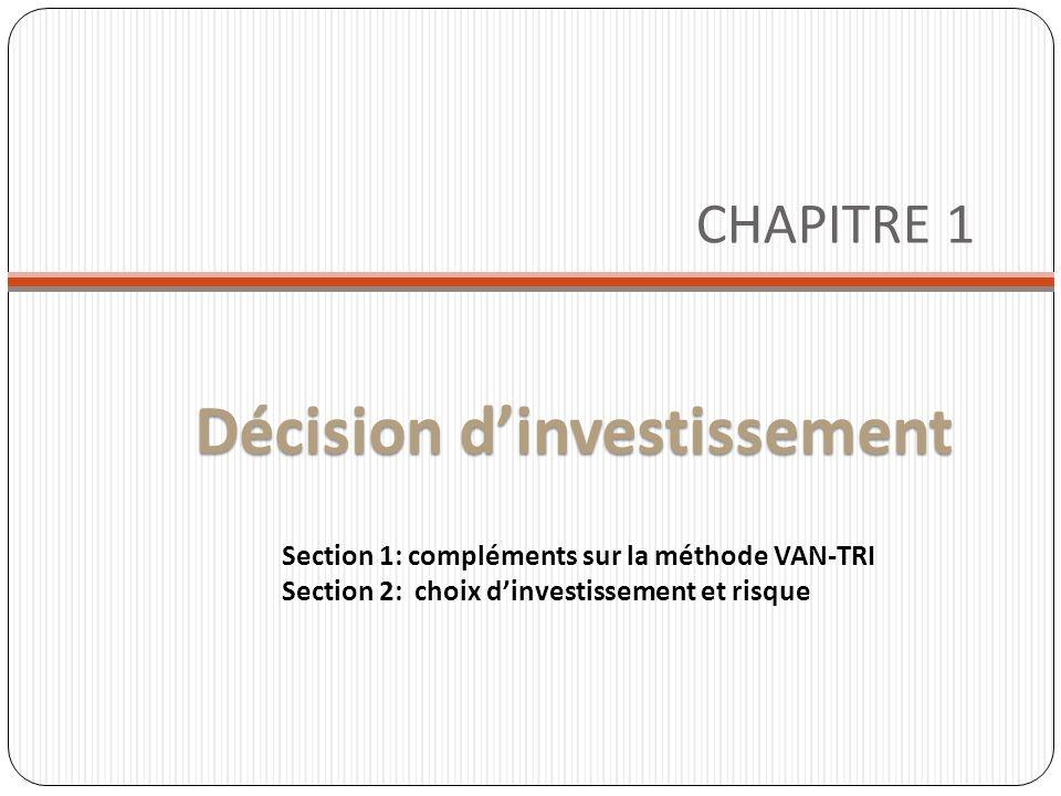 décision d investissement