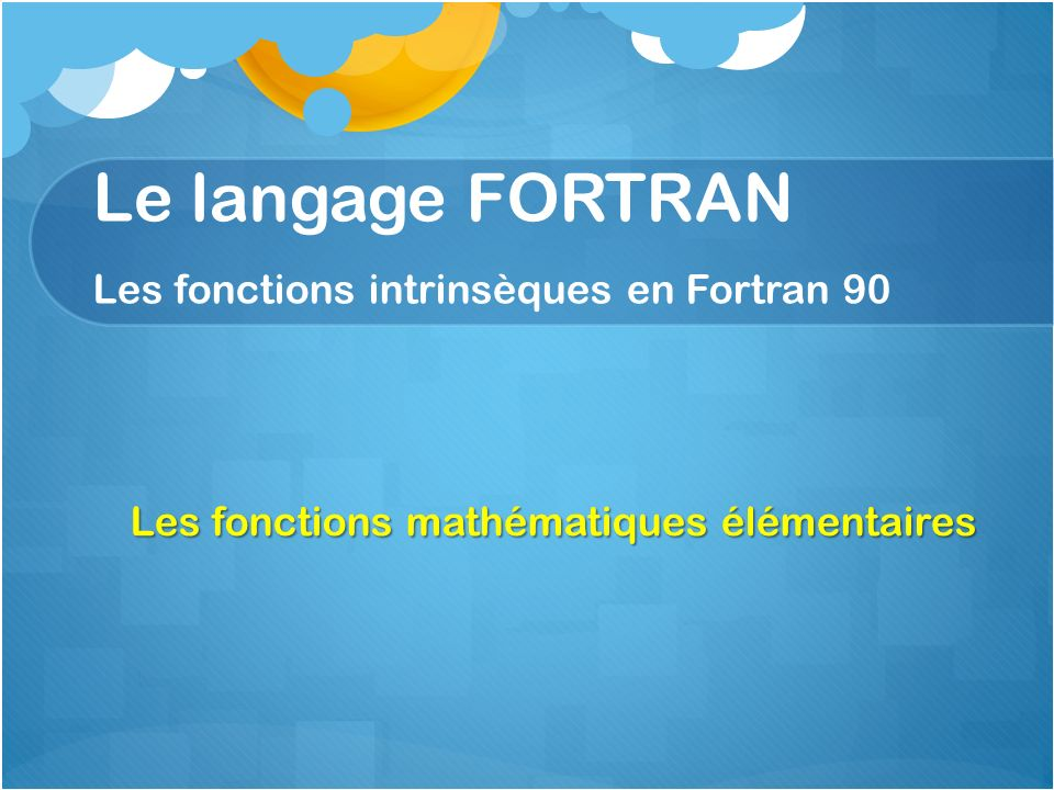 langage fortran 90
