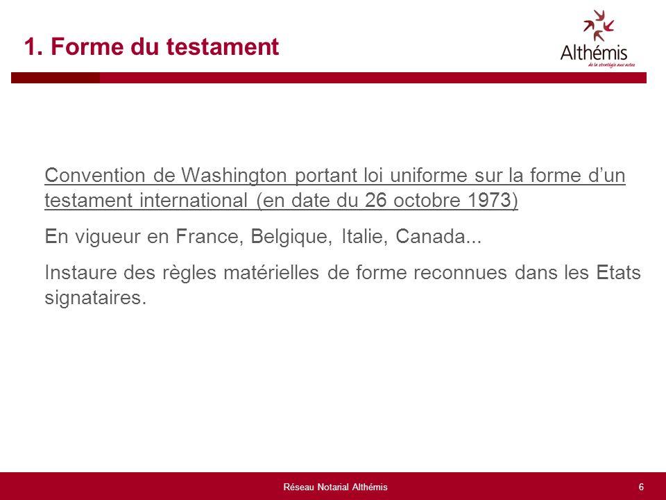 1reseau Notarial Althemis Congres Annuel Epsg Le Testament Etude