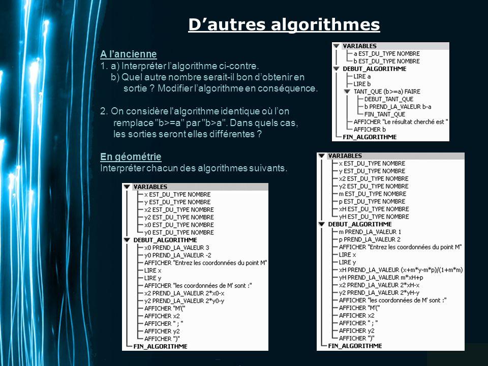 Page 1 Algorithmes En Seconde A La Rencontre De Quelques Structures Voir Les Documents Sur Le Site Academique Ppt Telecharger